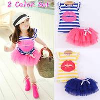 Комплект для девочки синяя футболка и розовая юбка на рост 90-110 см