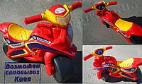 Детский мотоцикл толокар, беговел красный (0138)