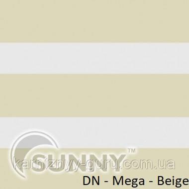 Рулонные шторы для окон Sunny в системе День Ночь, ткань DN-Mega