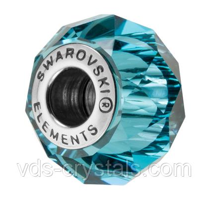Намистини Пандора Swarovski crystals 5948 Indicolite (упаковка 12 шт)