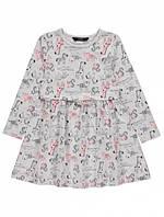 Хлопковое платье с длинным рукавом  на девочку 2-3 года, рост 92-98 см. Сафари. Джордж George Англия, фото 1