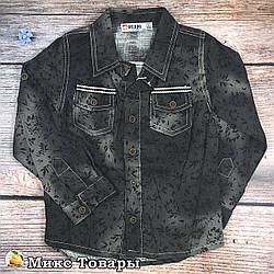 Дитяча джинсова сорочка Розміри: 104,110,116 см (8365)