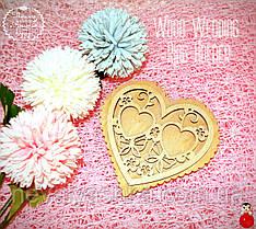 Подставка для Обручальных Колец Сердце 12 см Деревянная Свадебная сердечко підставка для весільних обручок