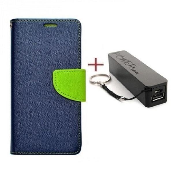 Комплект чехол книжка Goospery для HTC ONE E9S DUAL SIM синий + Внешний аккумулятор Powerbank 2600 mAh