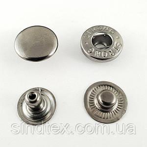 Кнопка АЛЬФА - 15мм  Блэк никель 720шт.