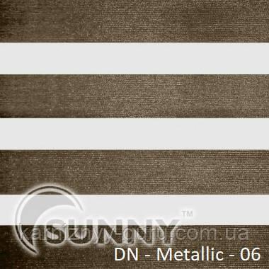 Рулонные шторы для окон Sunny в системе День Ночь, ткань  DN-Metallic