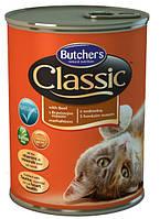 Консерва с говядиной для кошек Butchers Cat Classic with Beef