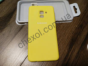Soft-touch Silicone Cover для Samsung J250/ J2(2018)/ J2 Pro(2018) Желтый