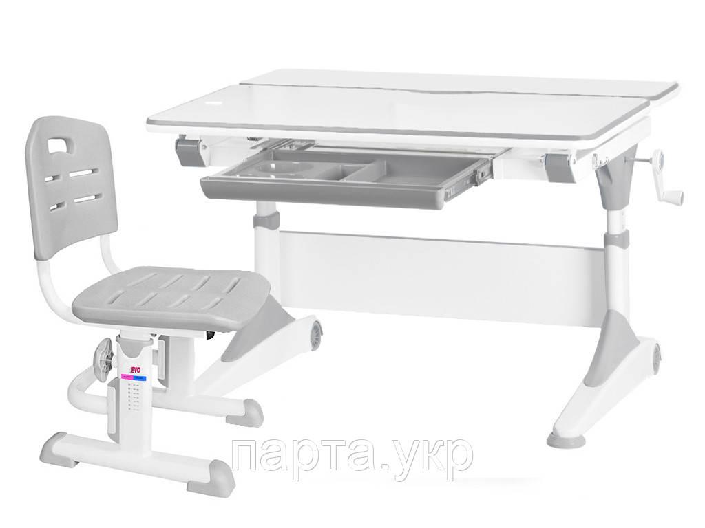 Комплект парта трансформер Alberto + стул Evo-301, 4 цвета