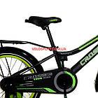 Детский велосипед Crosser Rocky 18 дюймов черно-желтый, фото 5