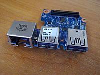 Плата с USB портами разъемом интернета и картридер 6050A2566901-usb HP ProBook 640 G1 бу, фото 1