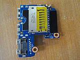 Плата с USB портами разъемом интернета и картридер 6050A2566901-usb HP ProBook 640 G1 бу, фото 4
