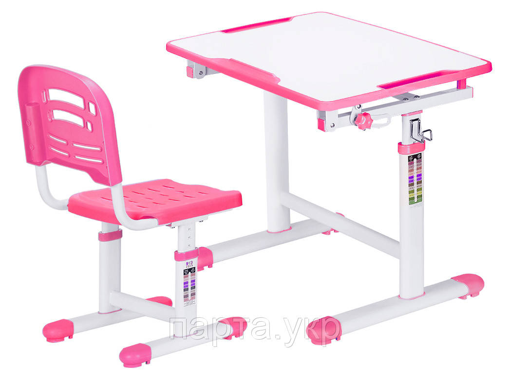 Комплект парта и стульчик Evo-kids Evo-07, 3 цвета