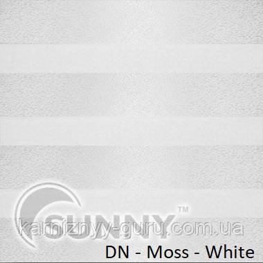 Рулонные шторы для окон Sunny в системе День Ночь, ткань  DN-Moss