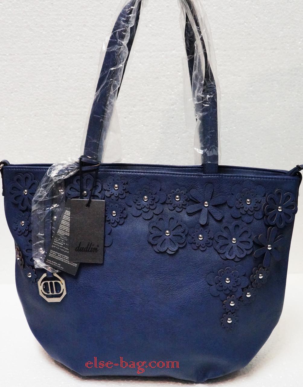 9612baf3c83a Синяя мягкая сумка с ромашками -