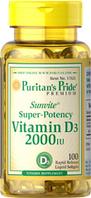 Витамин D3 2000 МЕ (100 капс.) Puritan's Pride
