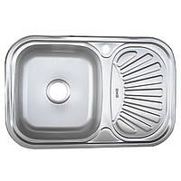 Стальная мойка кухонная Platinum 7549 Satin 0,8мм