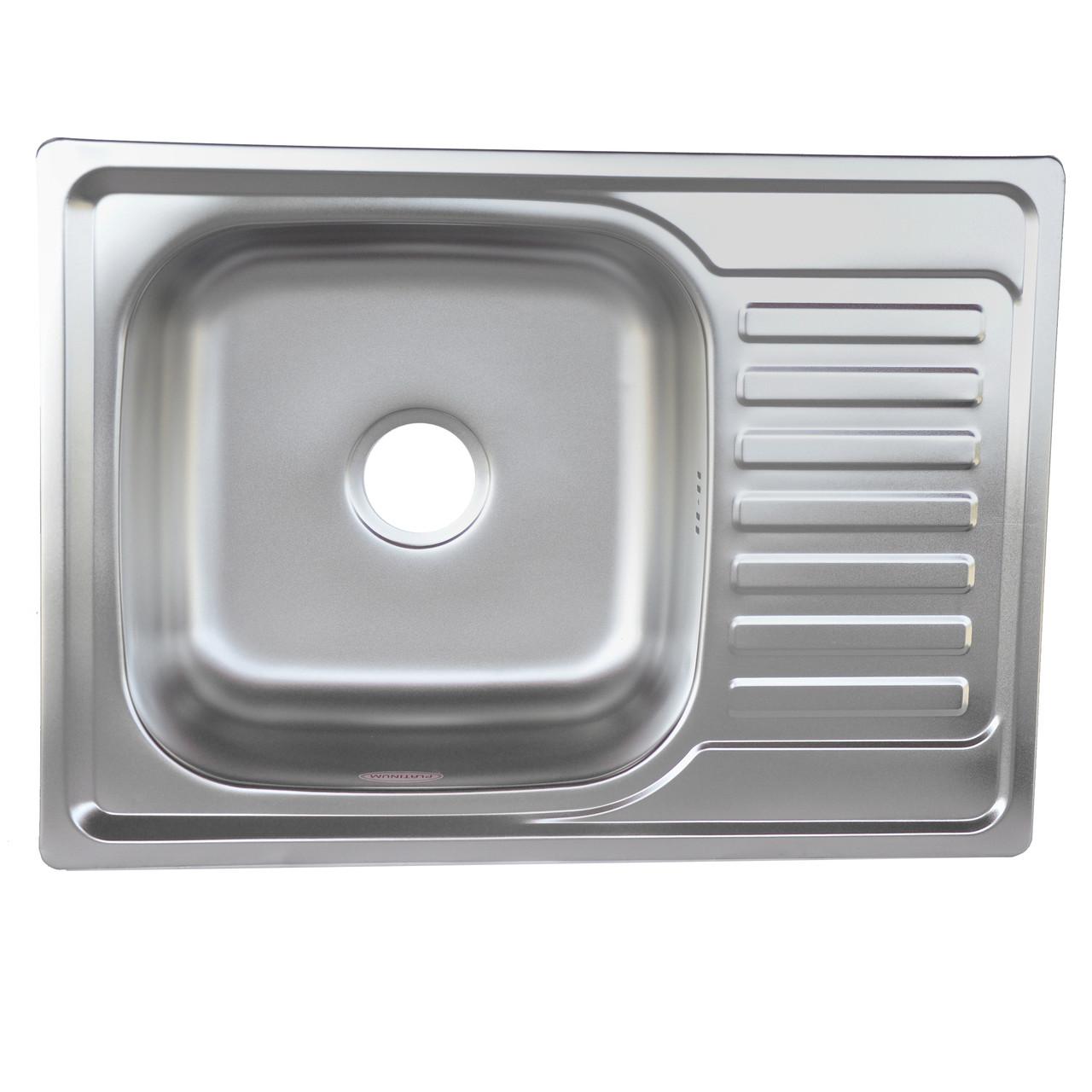 Мойка кухонная Platinum 6950 Decor 0,8мм