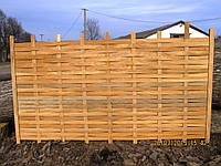 Забор плетеный дубовый из шпона секционный 5 мм с доставкой