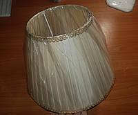 Тканевый абажур к напольному торшеру под широкий цоколь Е27