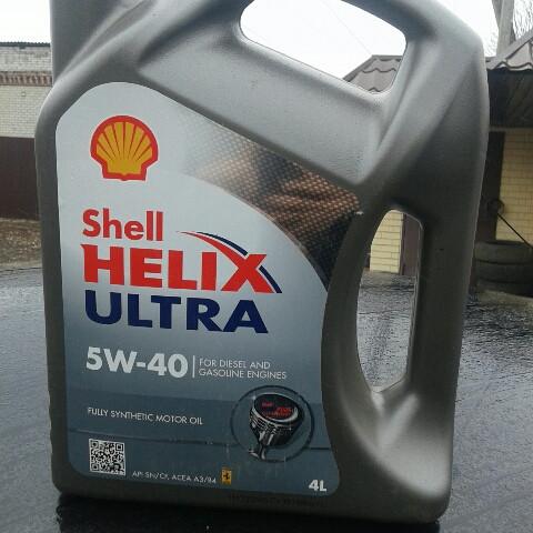 Моторное масло Shell Helix Ultra 5W-40 - 4 литра