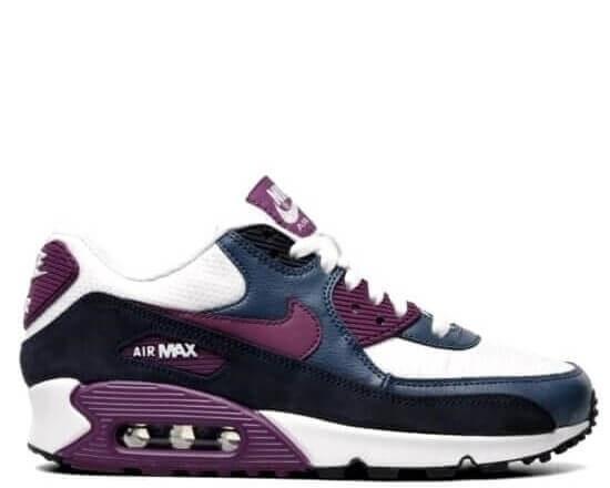 "Кроссовки Nike Air Max 90 ""Noir Violet"" Арт. 0922 (Уценка)"