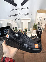 "Кроссовки Nike Air Force 1 Low Just Do It ""Black/White"" Арт. 3884"