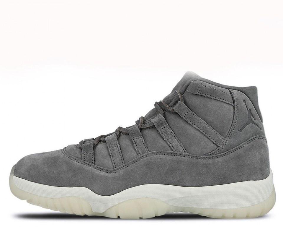 """Баскетбольные кроссовки Air Jordan 11 Retro Premium """"Grey Suede"""" Арт. 2158 (Уценка)"""