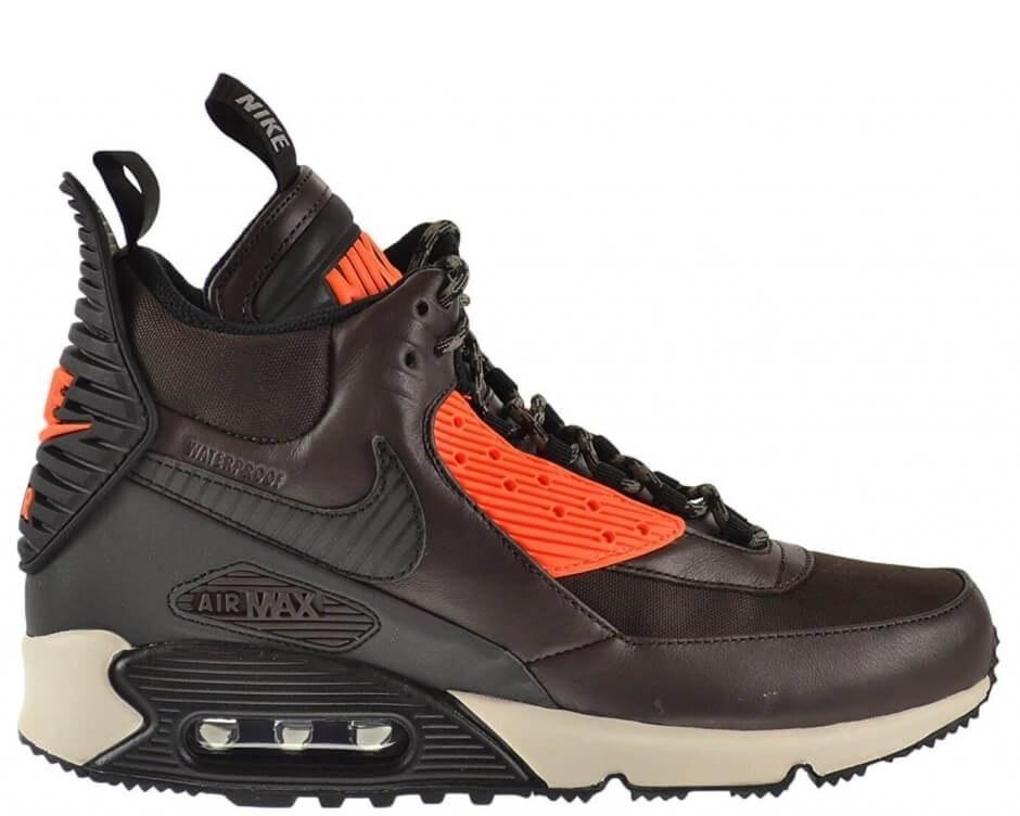 """Кроссовки Nike Air Max 90 SneakerBoot """"Velvet Brown/Hyper Crimson"""" Арт. 0638 (Уценка)"""