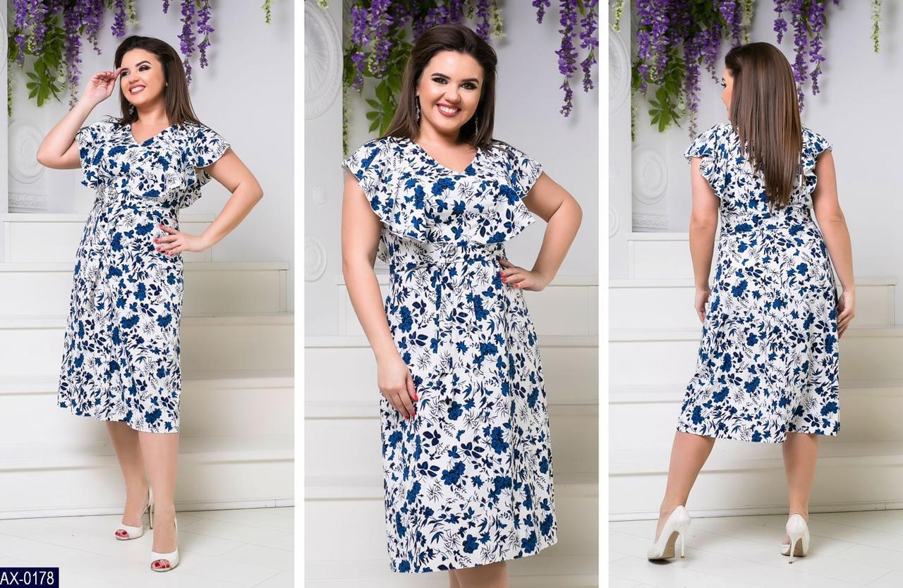 Женское платье,платье с коротким рукавом ,платья большие,платья в цветочек