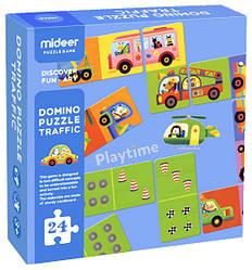 "Домино-пазл ""Транспорт"" MiDeer Toys"
