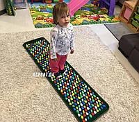Массажный (ортопедический) коврик дорожка для детей с камнями Морской берег 150*40cm (FI-0130), фото 1