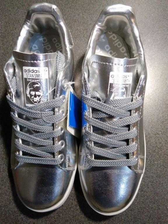 "Кроссовки Raf Simons x Adidas Stan Smith ""Metallic Silver"" Арт. 0801 (Брак)"