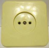 Розетка скрытой проводки одинарная  10А 250В , фото 3