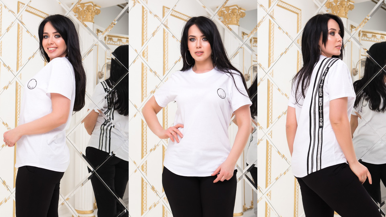 Женская модная футболка  РО5185 (бат)