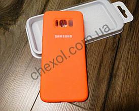 Soft-touch Silicone Cover для Samsung J4+ 2018 (J415) Оранжевый
