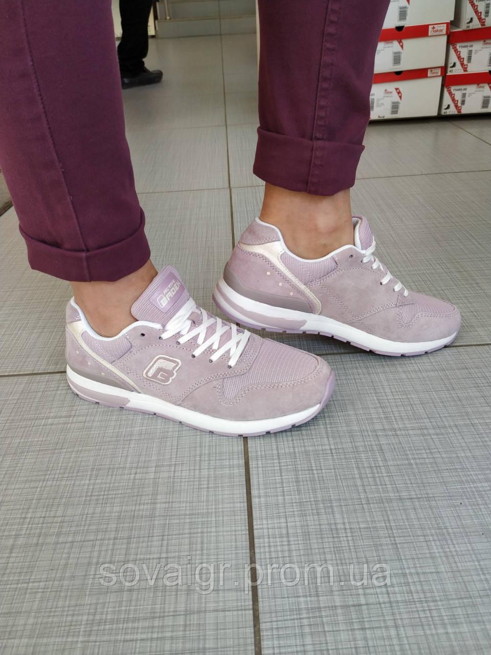 Подростковые замшевые кроссовки для девочки BADEN