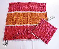 Ритуальный Комплект с драпировкой (парча в центре) атлас., фото 1