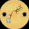Ангел-Охоронець ~ Маленькі скарби ~ Золота монета-браслет з кристалом Swarovski у футлярі