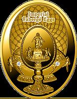 Фаберже. Яйце «Воскресіння Христове» ~ Золота  монета у футлярі, фото 1