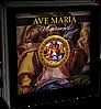Аве Марія ~ Мікеланджело ~ Срібна монета у позолоченій рамі