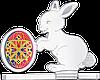 З Великоднем! ~ Срібна монета у футлярі в формі кролика
