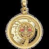 Зодіак ~ Близнята ~ Позолочена срібна монета-кулон у футлярі