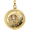 Зодіак ~ Скорпіон ~ Позолочена срібна монета-кулон у футлярі