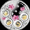 Талісмани щастя ~ Срібна монета з позолоченими елементами у рамці