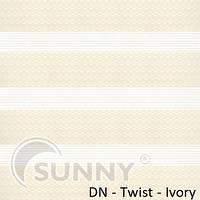 Рулонные шторы для окон Sunny в системе День Ночь, ткань DN-Twist
