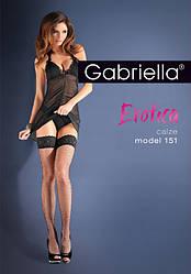 Женские чулки на силиконе черный Gabriella