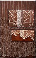 Тюль на окна  с органзы