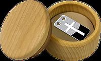 Хрест ~ Срібна монета-медальйон з ланцюжком у футлярі, фото 1