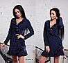 Женское платье на запах с воланами в расцветках. Ч-6-0319, фото 6